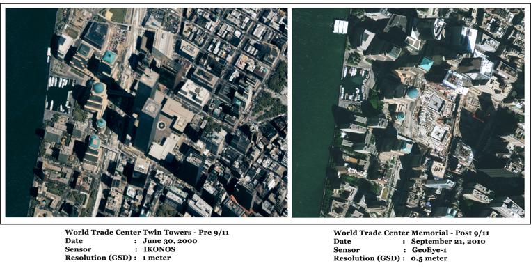 GeoEye-1/IKONOS Satellite Image of WTC