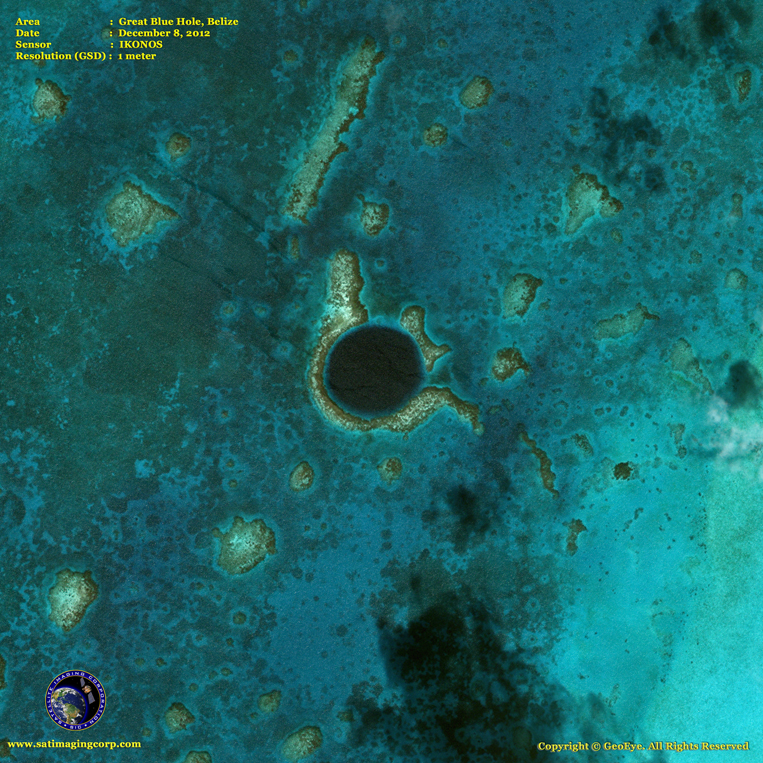 IKONOS Satellite Image of the Great Blue Hole