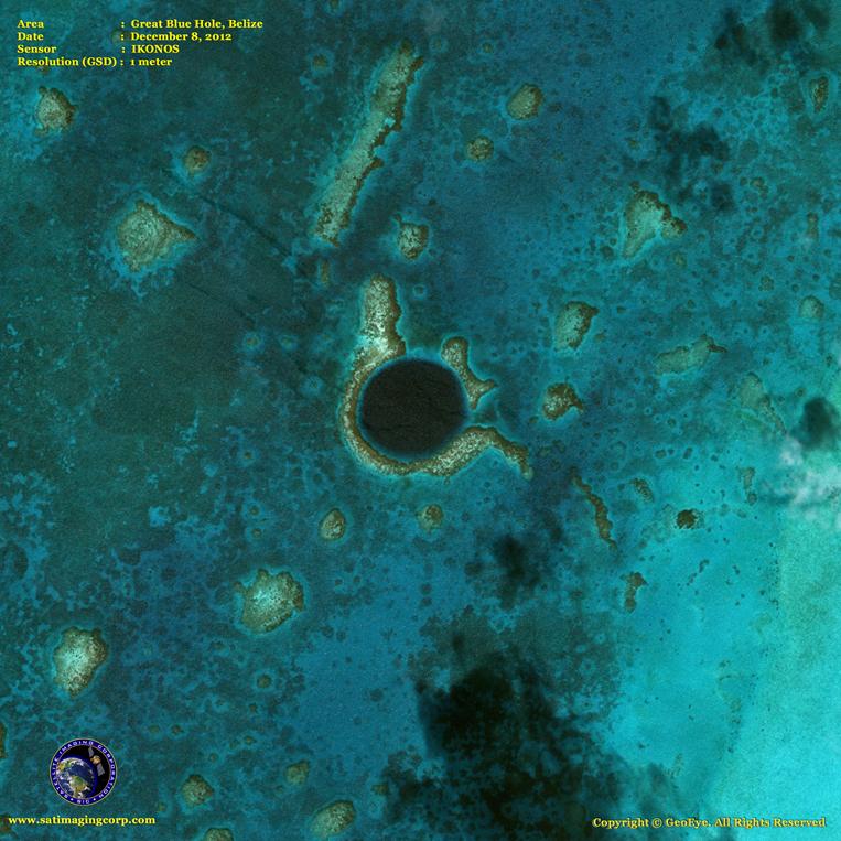 IKONOS Satellite Image of the Great Blue Hole