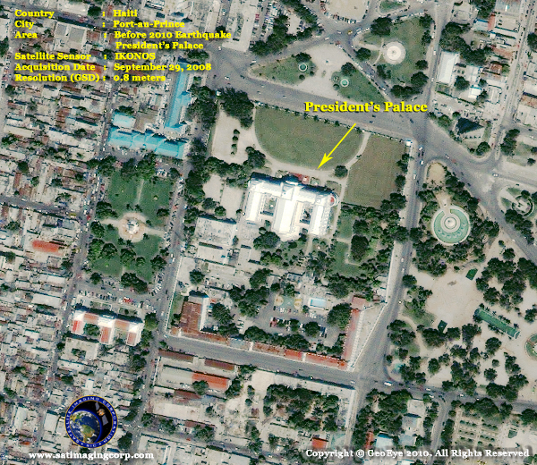 Satellite Images - IKONOS - President's Palace in Port-au-Prince, Haiti
