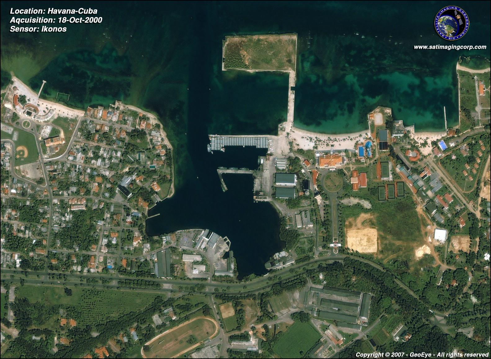 Ikonos Satellite Image Of Havana Cuba Satellite Imaging