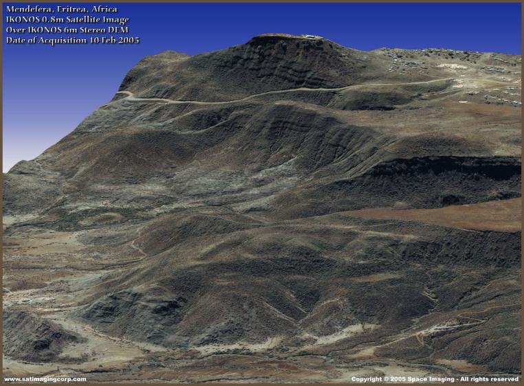IKONOS Satellite Image of Eritrea, Africa (Digital Elevation Model)