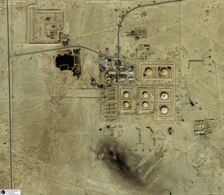 IKONOS Satellite Image of Oil Facility - Rumalia, Iraq