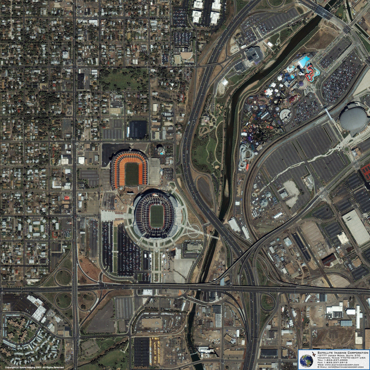 IKONOS Satellite Image of Denver, Colorado