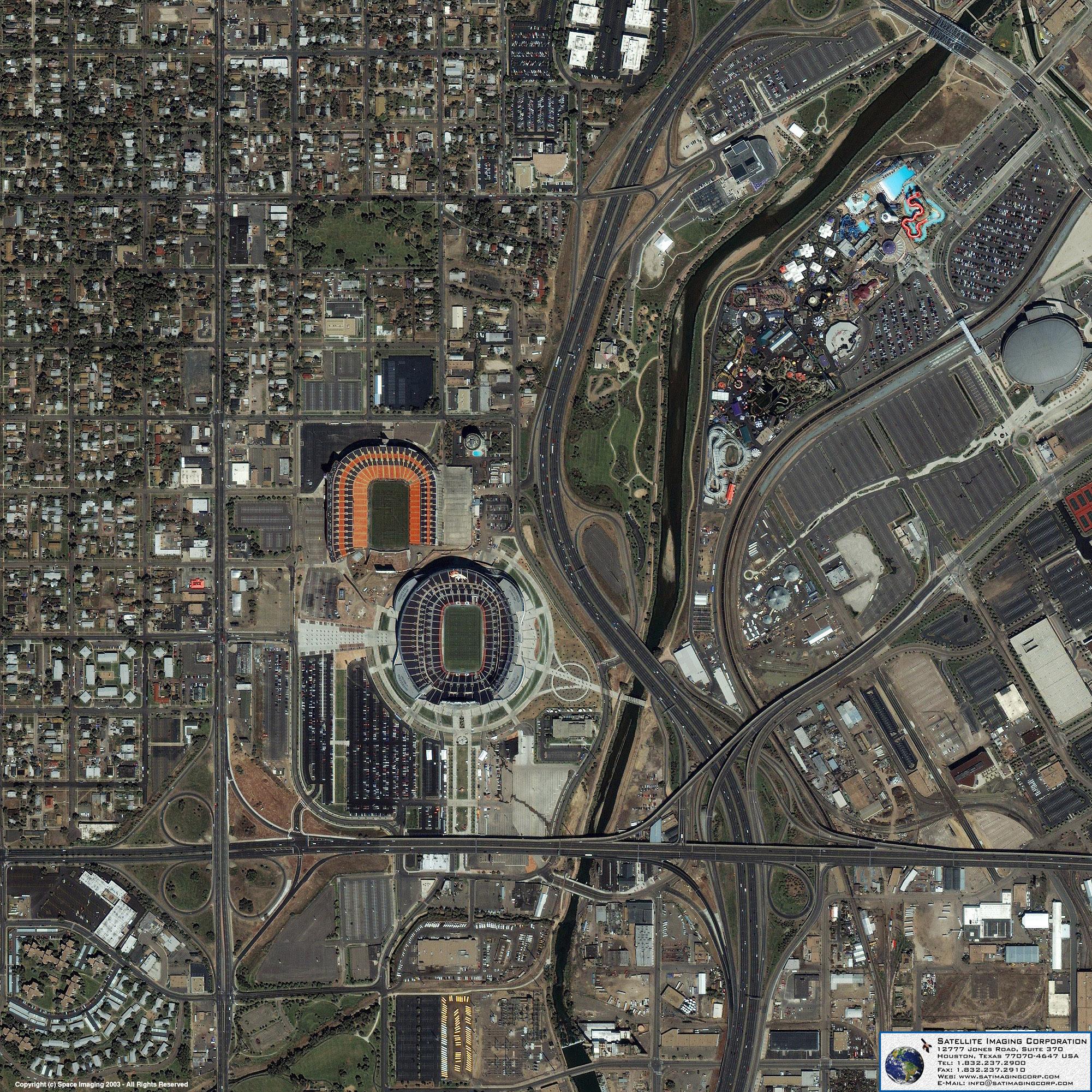 IKONOS Satellite Image Of Denver Colorado Satellite Imaging Corp - Satelite image