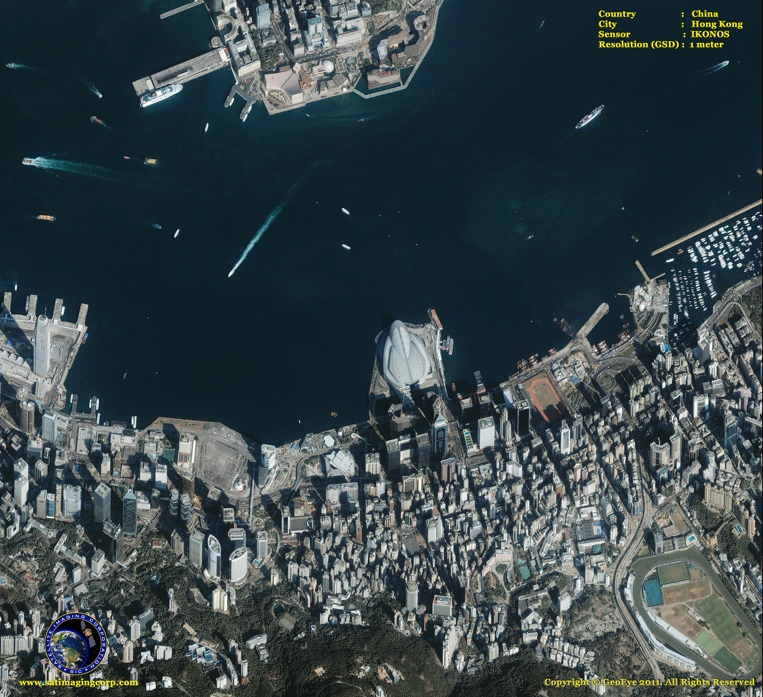 Satellite Photo - Hong Kong