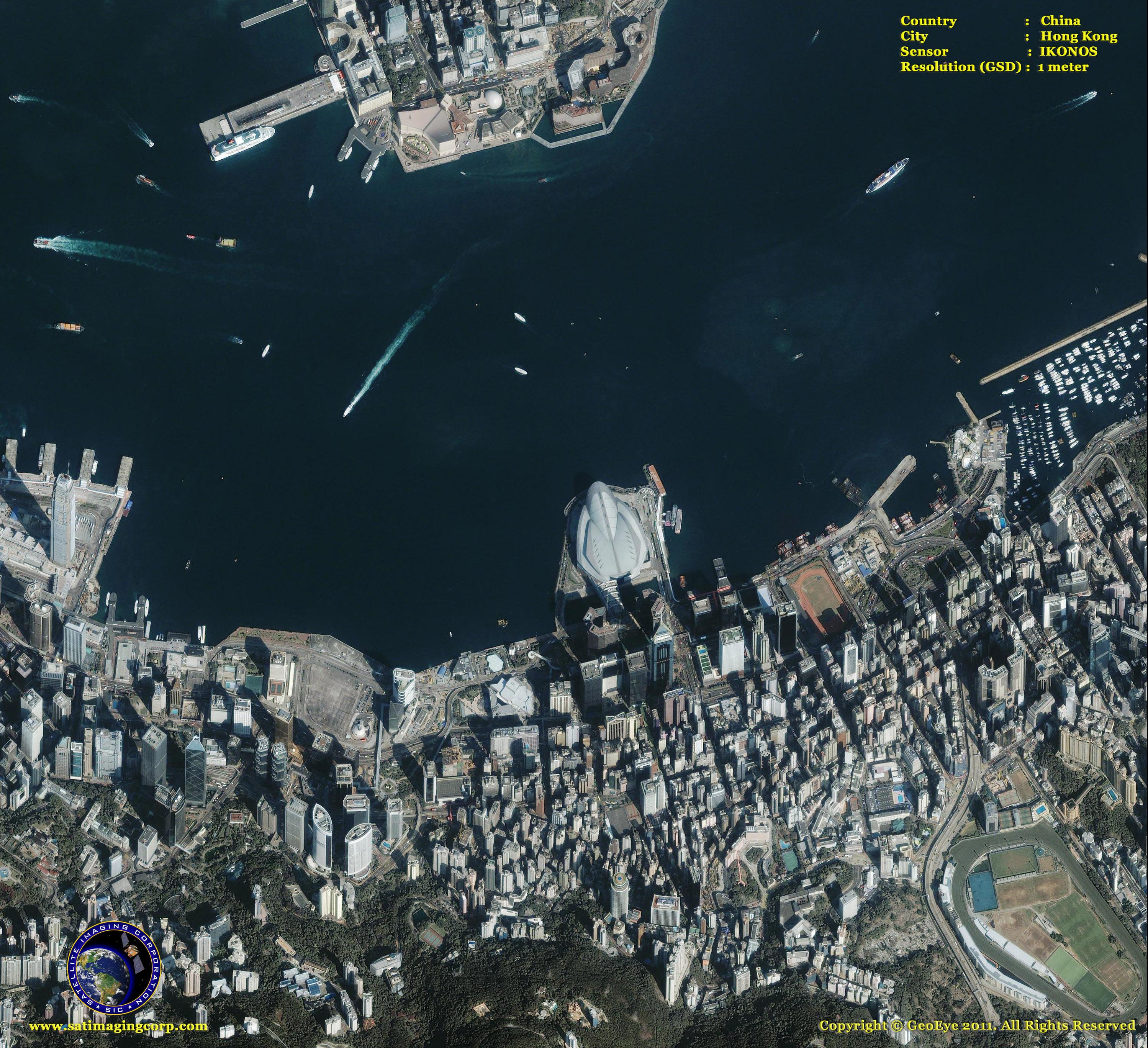 IKONOS Satellite Image Of Hong Kong