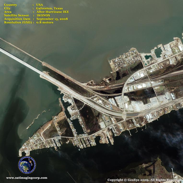 IKONOS Satellite Image of Galveston, Texas