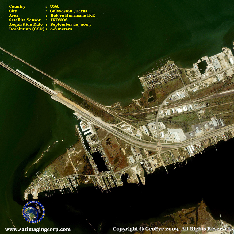 IKONOS Satellite Image of Galveston, Texas