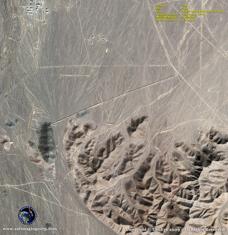 IKONOS Satellite Image of Qom, Iran