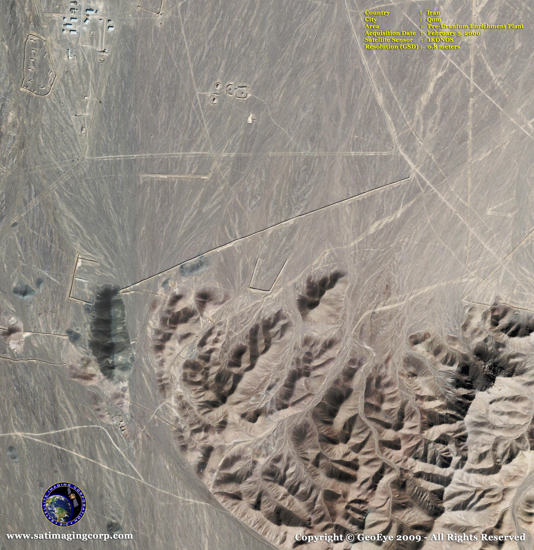 IKONOS Satellite Image of Qom Iran Uranium Plant Satellite