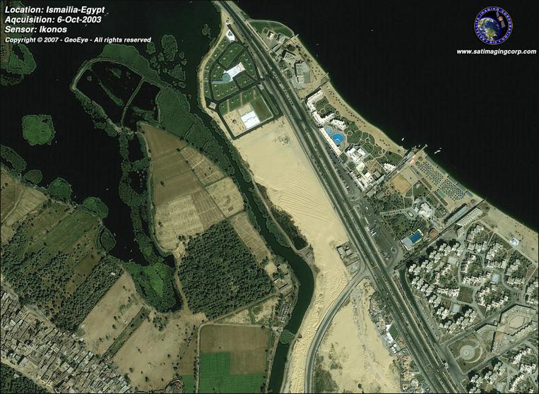 IKONOS Satellite Image of Ismalia, Egypt