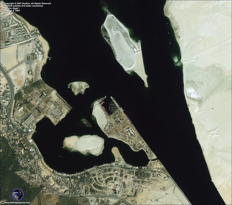 Satellite Image - Ismalia, Egypt