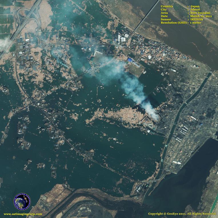 IKONOS Satellite Image of Natori (After)