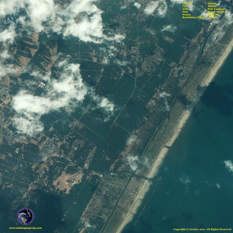 IKONOS Satellite Image of Sendai (After)
