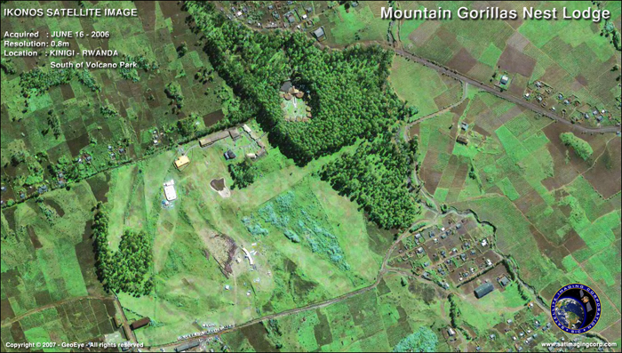 Satellite Image - Mountain Gorillas Nest Lodge, Rwanda
