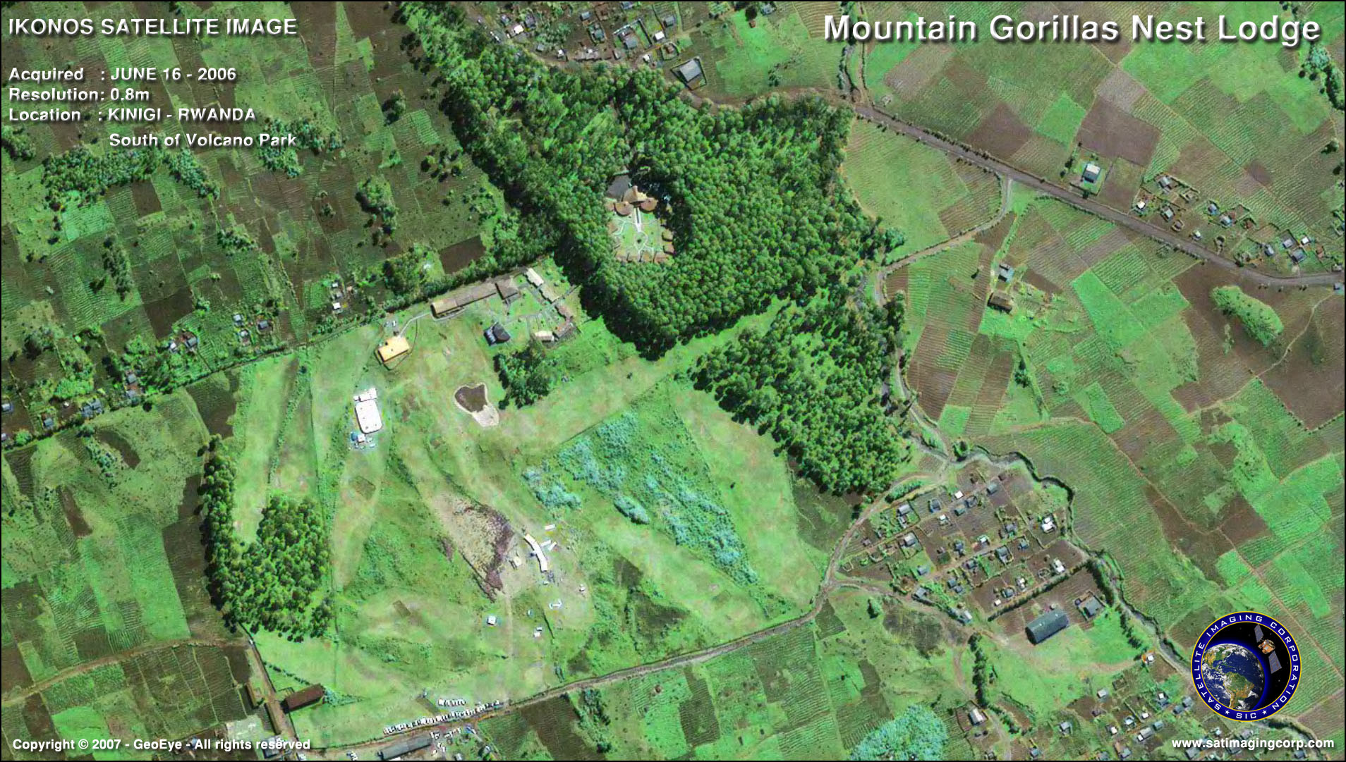 IKONOS Satellite Image of Kinigi, Rwanda   Satellite ...