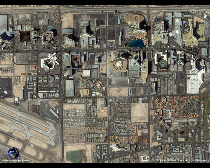 IKONOS Satellite Image of Las Vegas, Nevada