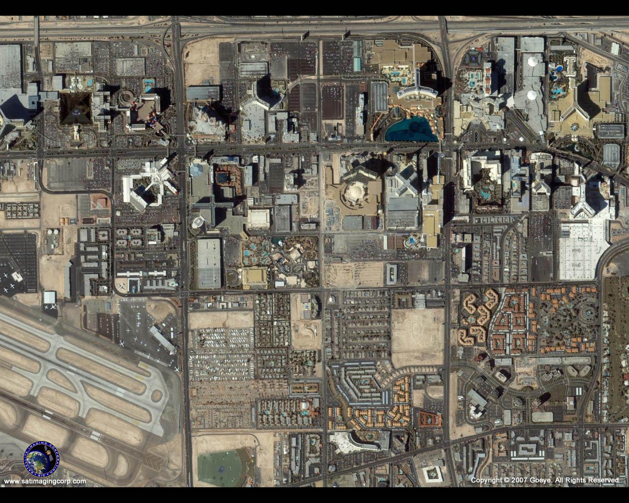 IKONOS Satellite Image of Las Vegas, Nevada   Satellite ...