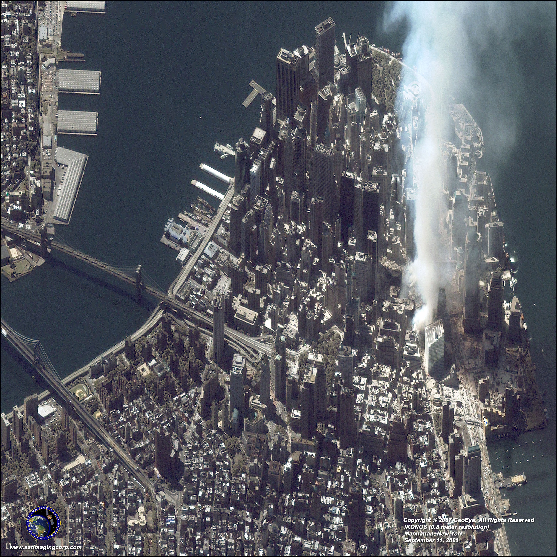 Map Of New York 2001.Ikonos Satellite Image Of Manhattan New York Satellite Imaging Corp
