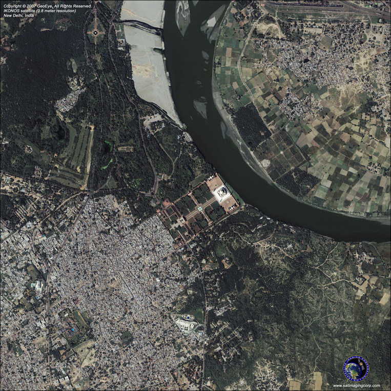Satellite Photo - Taj Mahal, New Delhi, India