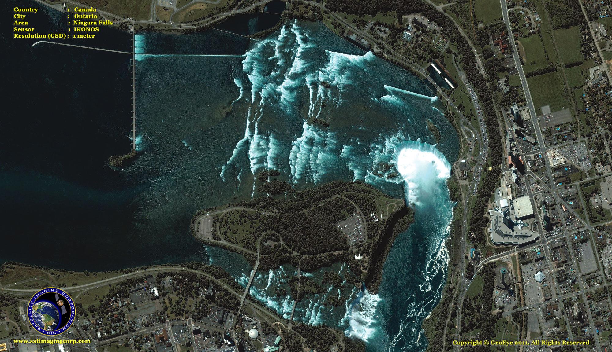 Ikonos Satellite Image Of Niagara Falls Satellite