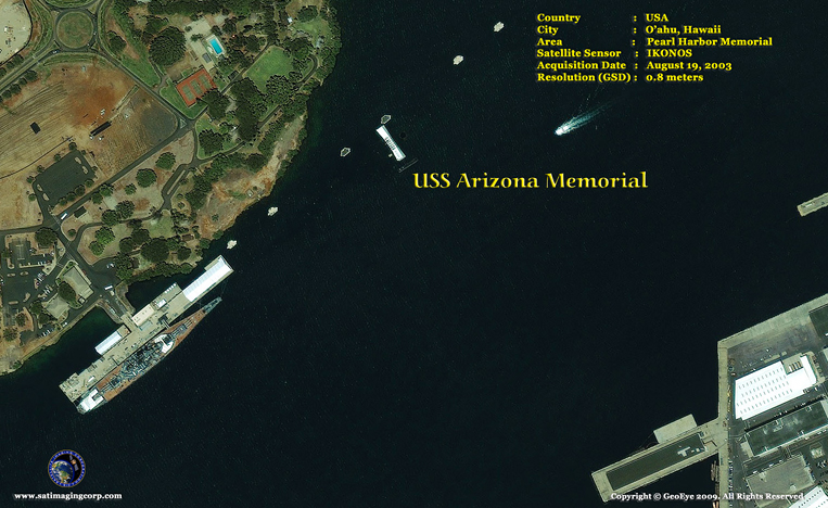 IKONOS Satellite Image of Pearl Harbor