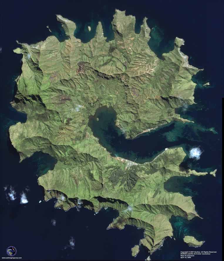 Satellite Photo - Rapa Iti, Polynesia