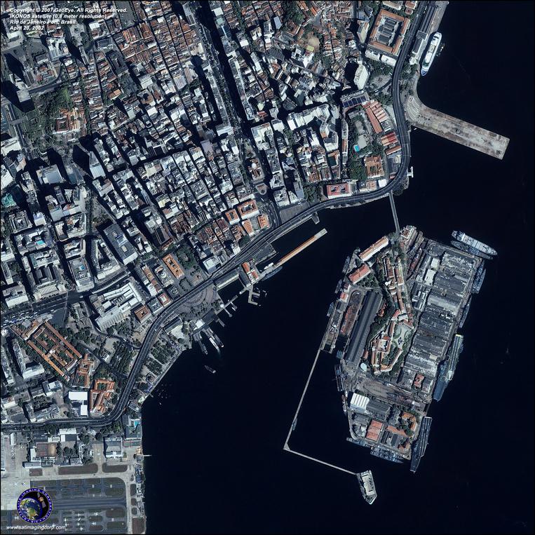 Satellite Picture - Rio de Janeiro, Brazil