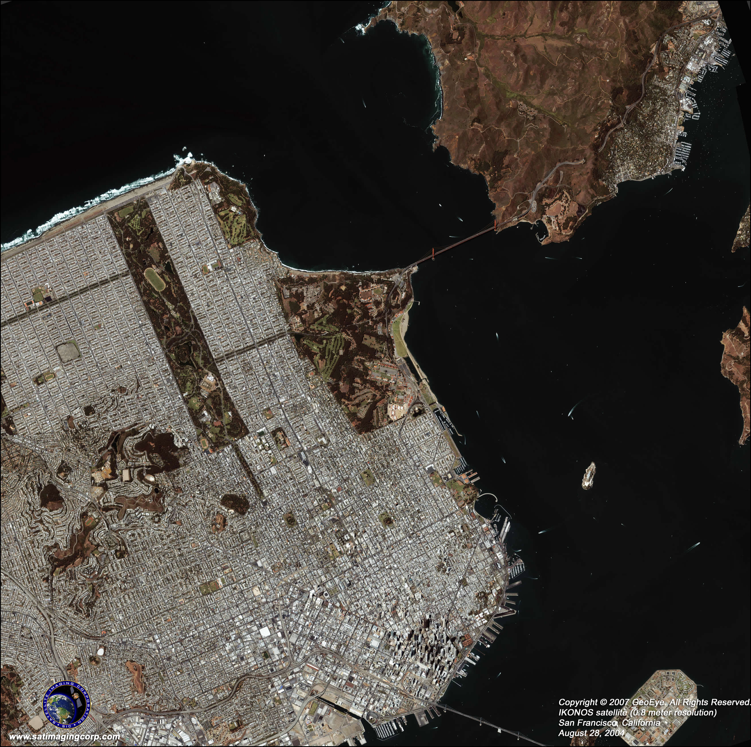 Options IKONOS Satellite Image San Francisco