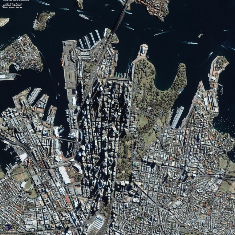 Satellite Image - Sydney, Australia