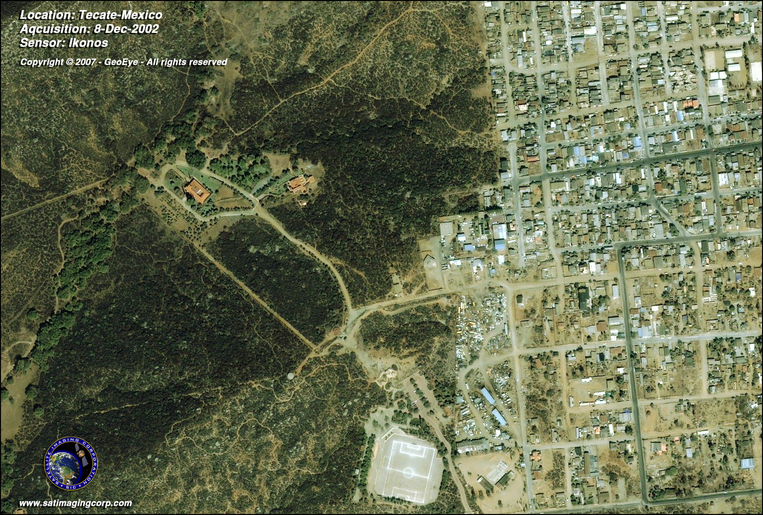 Satellite Picture - Tecate, Mexico