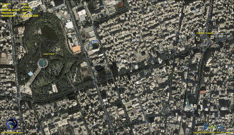 IKONOS Satellite Image of Tehran, Iran