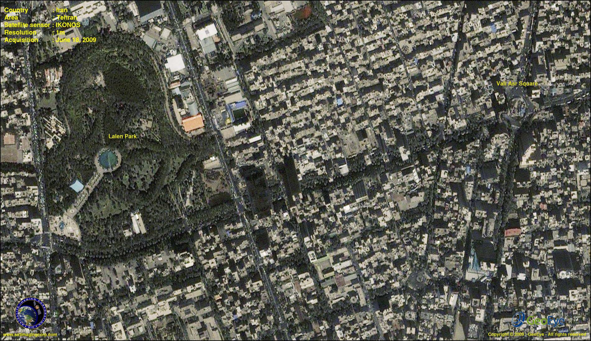 IKONOS Satellite Image Tehran Iran  Satellite Imaging Corp
