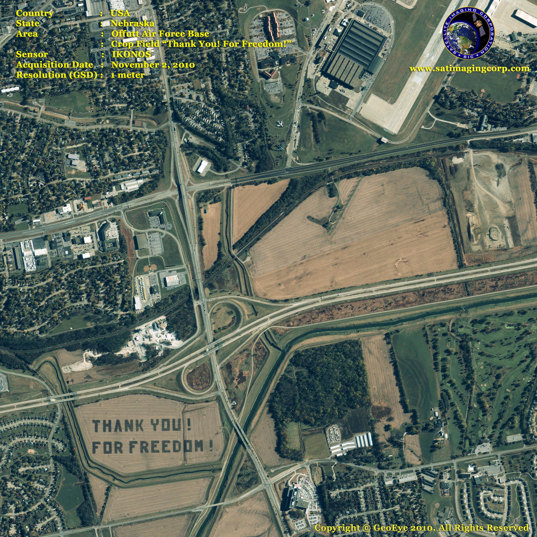 ikonos satellite image thank you for freedom satellite