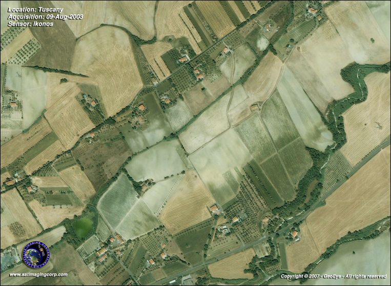 Satellite Photo - Tuscany, Italy