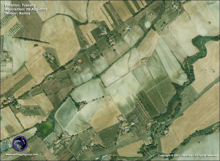Satellite Photo - Tuscany, Italy