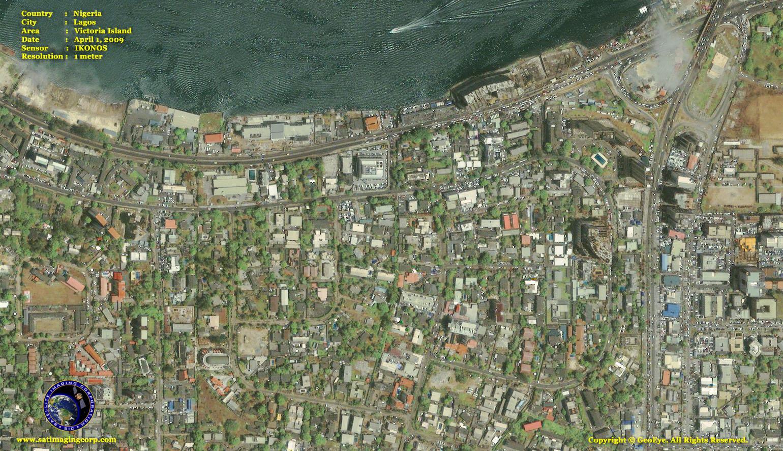 ikonos satellite image island satellite imaging