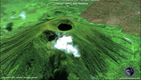 3D Satellite Image of Visoke Volcano - Rwanda
