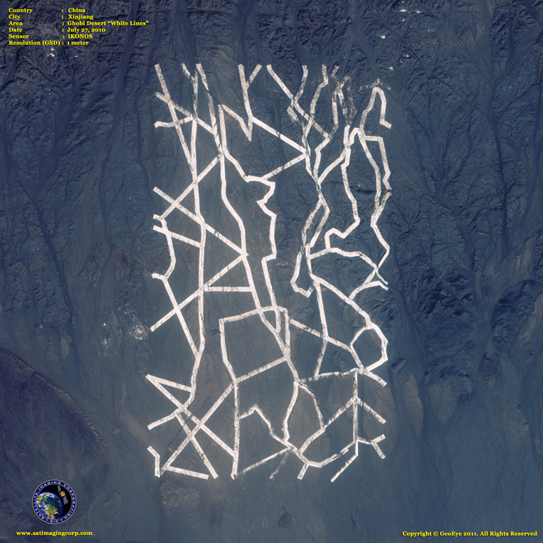 IKONOS Satellite Image of White Lines