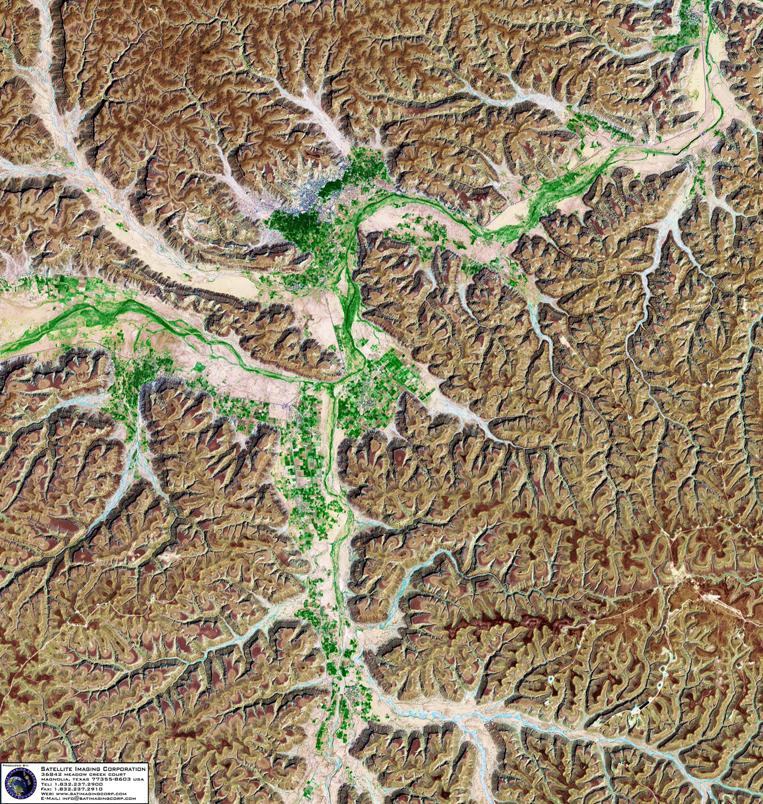 Satellite Image of Tarim, Yemen (Landsat)