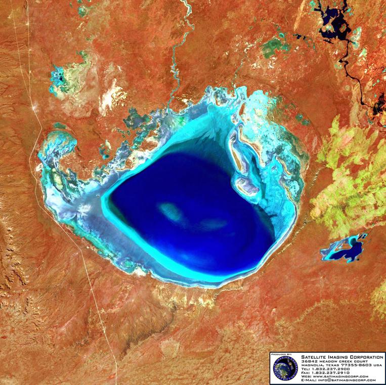 Satellite Image of Patagonia, Argentina (Landsat)