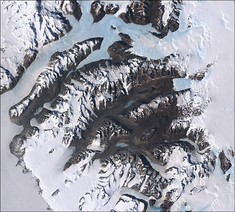 LANDSAT Satellite Imagery of Dry Valleys in Antarctica