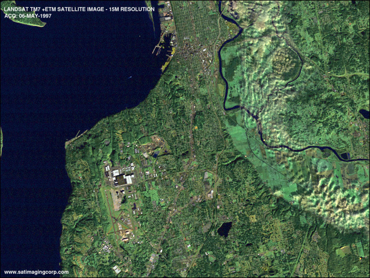 Satellite Image of Everett, Washington (Landsat)