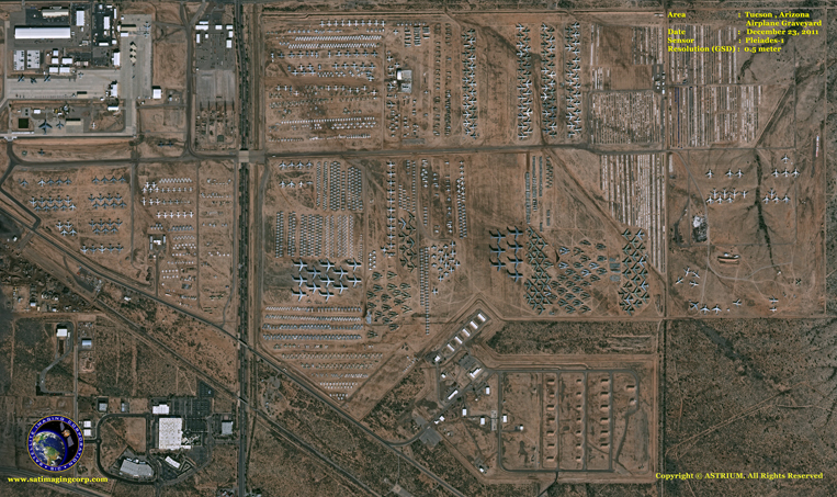 Pleiades-1 Satellite Image of the Airplane Graveyard