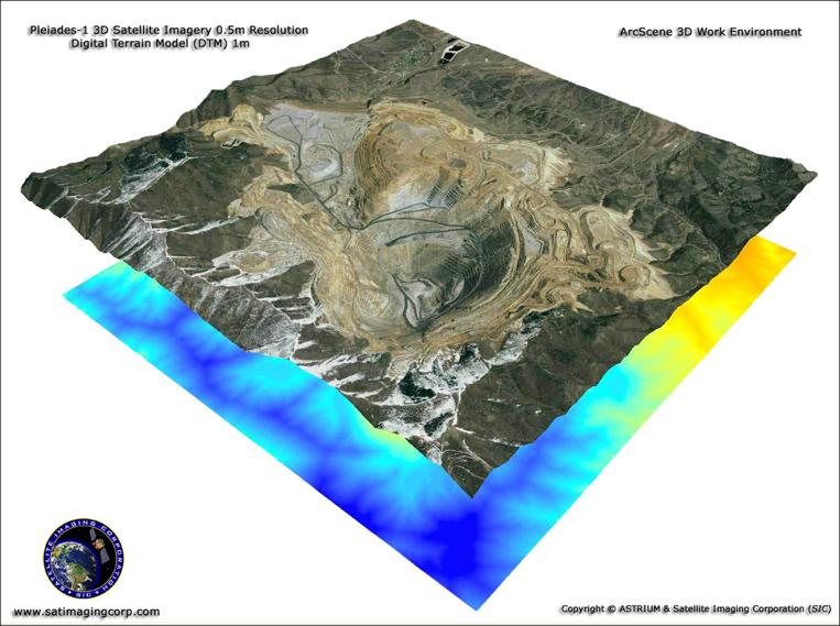 Pleiades-1 ArcScene 3D Satellite Image