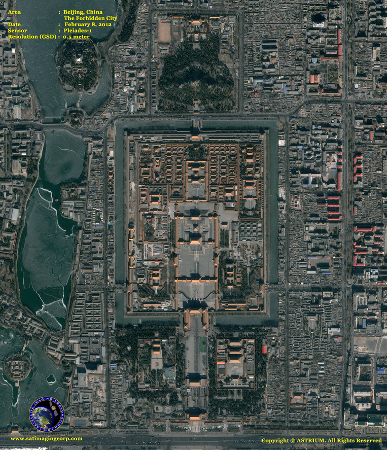 Pleiades-1 Satellite Image of Beijing, China