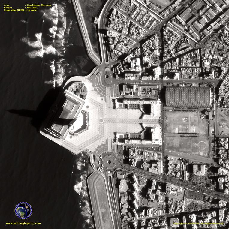 Pleiades-1 Satellite Image of Casablanca, Morocco