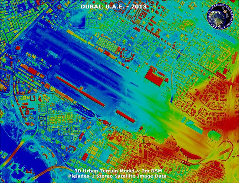 Pleiades-1 Satellite Image of Dubai, U.A.E