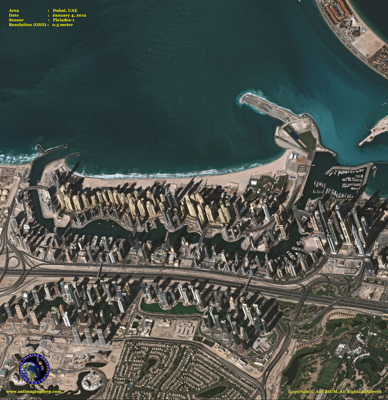 Pleiades-1 Satellite Image of Dubai